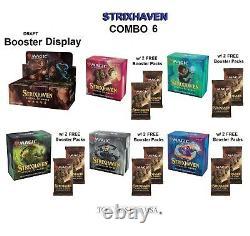 MTG Strixhaven Set Booster Box + 5 Prerelease Kits COMBO 6 NEW PRESALE Ship 4/23