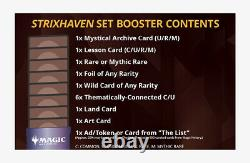 MTG Strixhaven Set Booster Box Display NEW Factory Seal -SHIPS NOW USPS Priority