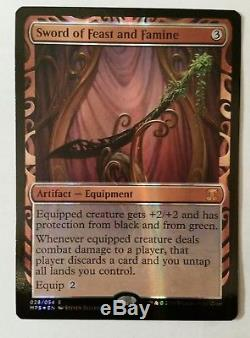 MTG Sword of Feast and Famine Foil Masterpiece Kaladesh Invention unplayed NM