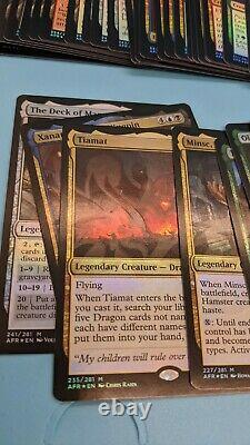 Magic Adventures In The Forgotten Realms Foil Ampersand Promo Set COMPLETE MTG