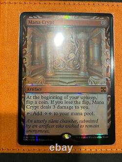 Magic MTG Masterpiece Series Kaladesh Inventions Mana Crypt NM Foil