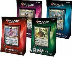 Magic Sealed 2018 Commander Edh 4 Deck Set Pack Box Decks