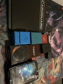 Magic The Gathering Collection With Deck Boxes And A Mat