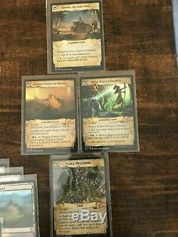 Mtg Magic Investment Lot Of 24 Rare Lands Shock, Fetch, Legendary, Foil