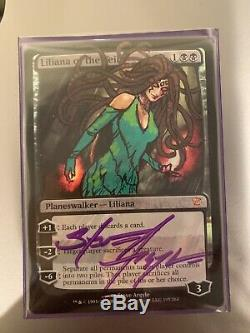 Mtg liliana of the veil foil Altered And Signed By Steve Argyle