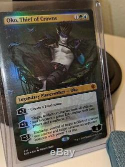 Oko, Thief of Crowns Eng Foil Borderless from Throne of Eldraine MTG