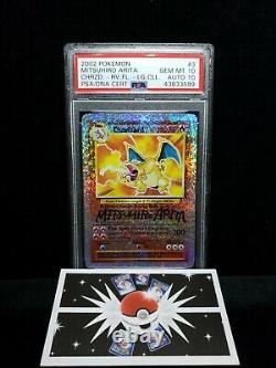 PSA 10/10 Pokemon Charizard Rev Foil Mitsuhiro Arita Legendary Collection POP 1