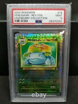 PSA 9 MINT 2002 Venusaur #18 Reverse Holo Foil Legendary Collection Pokemon WOTC