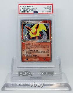 Pokemon Ex Delta Species Flareon Ex 108/113 Holo Foil Psa 10 Gem Mint #28223093