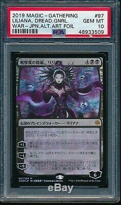 Psa 10 Gem Mint Liliana Foil Dreadhorde General Mtg Magic Japanese Alt Art Amano