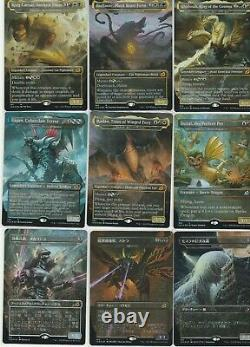 Set of 18 Ikoria Godzilla FOIL EXTENDED ART AND JP EXCLUSIVES! SGE