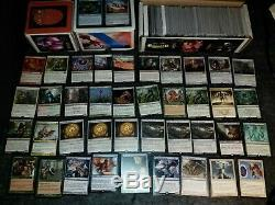 Small Magic the Gathering MTG collection with foil cards, rares, custom decks