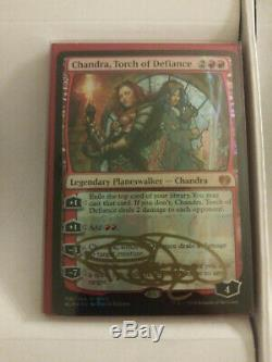 Terese Nielsen Signed Stained Glass Planeswalkers