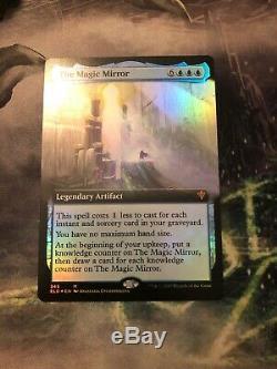 The Magic Mirror Extended Art FOIL(Borderless)Throne Of Eldraine Presale NM MTG