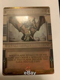 Thoughtseize Foil Masterpiece Series Amonkhet Invocation Invocations MTG