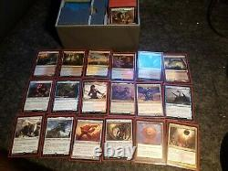 Two custom Magic the Gathering commander decks in Ultimate Guard MTG deck box