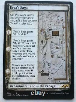 Urza, Lord High Artificer(Retro Foil) + Urzas Saga from MH2 set. NM Condition