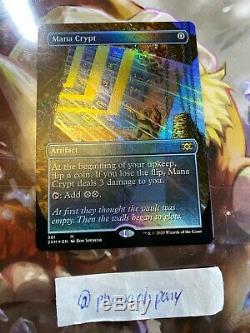 X1 FOIL MANA CRYPT 361 (BORDERLESS) DOUBLE MASTERS Magic CARD MTG