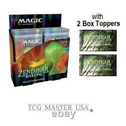 Zendikar Rising Collector Booster Box MTG Brand New! Includes 2 box toppers